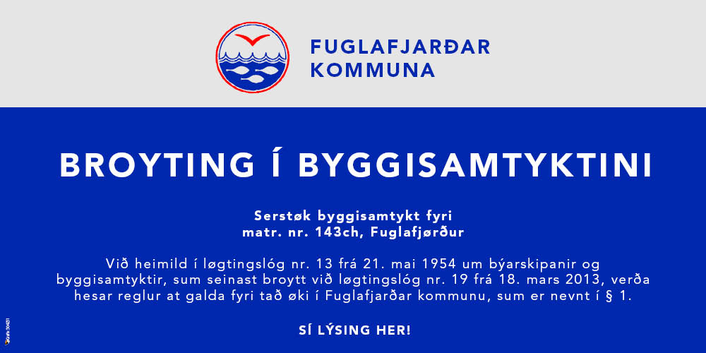 Fuglafjarðar Kommuna - Byggisamtykt